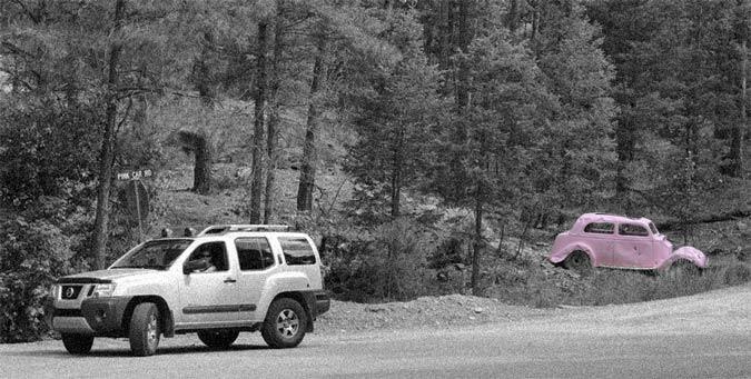 Pink Car Road