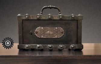 Antique French Bauche Lock Box Safe