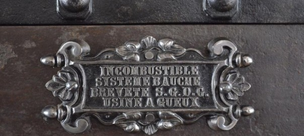 Antique Bauche Safe Nameplate