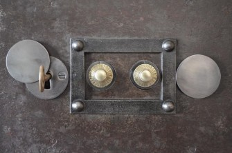 Antique Bauche Safe Lock and Key