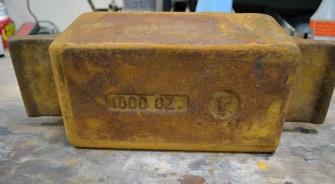 Kit Kat Gold Ingot Mold - Before