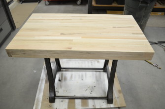 SIMPLEX Machine Base - Reclaimed Wood Tabletop Unfinished
