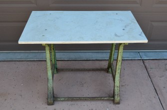 SIMPLEX Machine Base - Before Refinishing