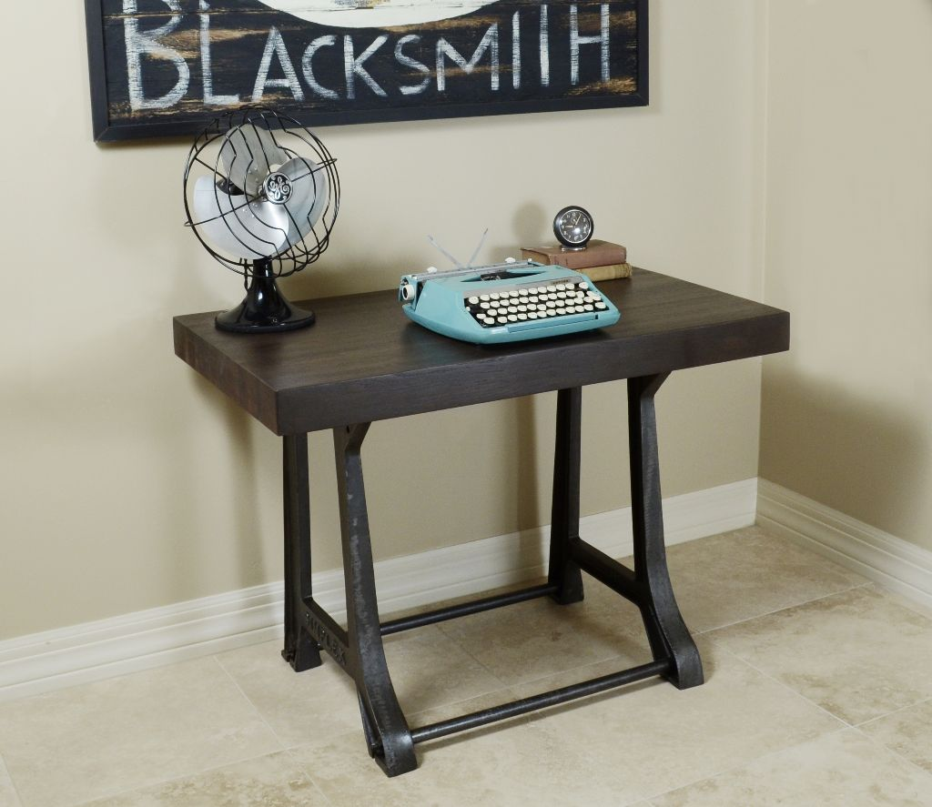 SIMPLEX Cast Iron Legs - Reclaimed Wood Butcher Block Top
